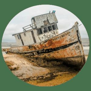 Boat Marine sandblasting