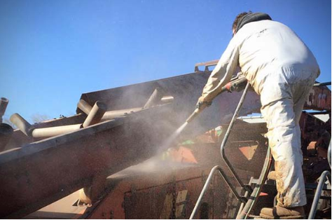 Industrial cleaning and sand blasting