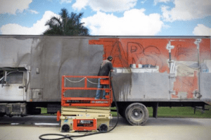Graffiti and Truck Trailer Blasting