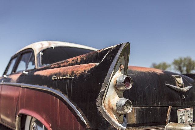 Car restoration blasting